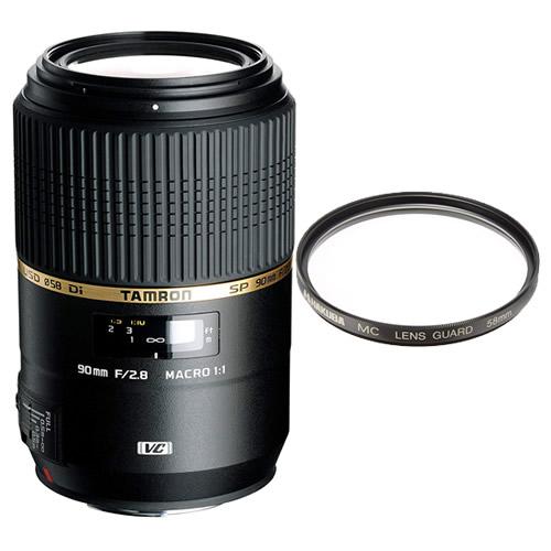 タムロン SP 90mm F/2.8 Di MACRO 1:1 VC USD キヤノン用 Model:F004E マクロレンズ 【レンズ保護フィルター付!】