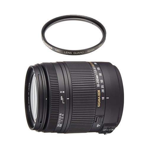 (レンズ保護フィルター付) シグマ 高倍率ズームレンズ 18-250mm F3.5-6.3 DC MACRO OS HSM シグマ用