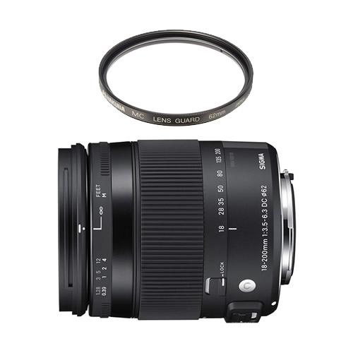 (レンズ保護フィルター付) シグマ 18-200mm F3.5-6.3 DC MACRO OS HSM ニコン用 (Fマウント) Contemporaryライン 高倍率ズームレンズ