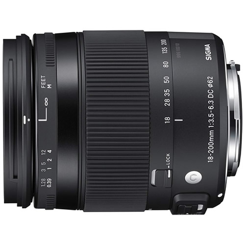 シグマ 18-200mm F3.5-6.3 DC MACRO OS HSM シグマ用 Contemporaryライン 高倍率ズームレンズ