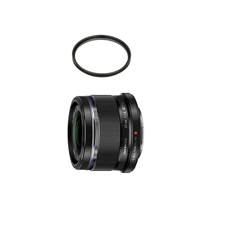 【レンズ保護フィルター付】 オリンパス 大口径標準レンズ M.ZUIKO DIGITAL 25mm F1.8 ブラック 【マイクロフォーサーズ用】