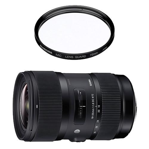 (レンズ保護フィルター付)シグマ 18-35mm F1.8 DC HSM Artライン 大口径標準ズームレンズ ソニーAマウント用