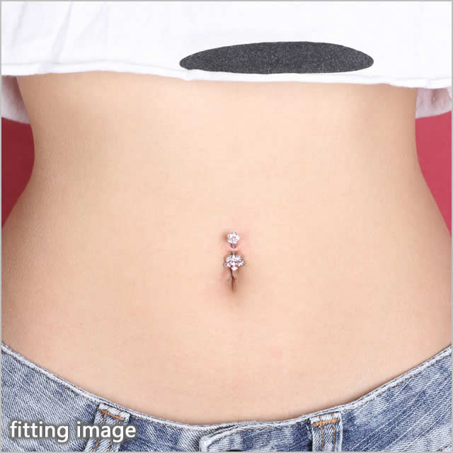 Double Body Piercing 14 G 6 Juelflower Banana Barbell Belly Button Piercing Ear Piercing Body Piercing 316 L Surgical Stainless Steel Body Piercing He