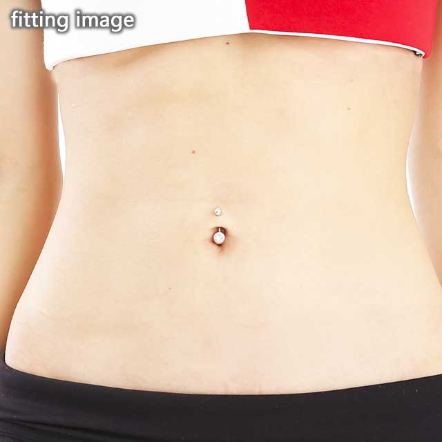 Body Piercing 14 G G23 Titanium Double Jewel Banana Barbell Belly Button Piercing Ear Piercing Body Piercing 316 L Surgical Stainless Steel Body
