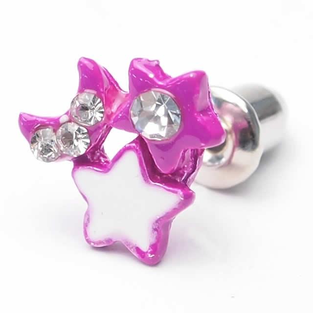 Moon & Star jewels earrings (1 pair) auktn 02P07Feb16