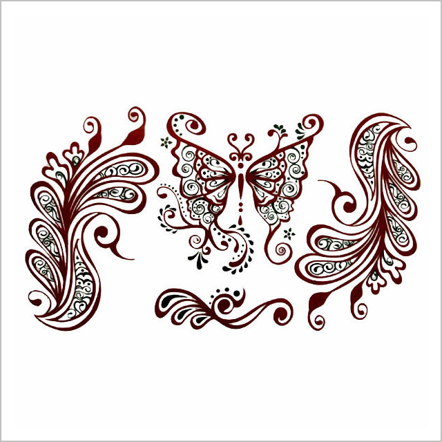 e66e21d44 ... Sticker tattoo tribal Butterfly 2 tattoo Sir Christmas gift boyfriend  she ...