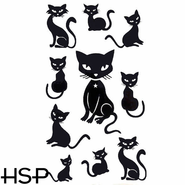 a5aca2f60 Tattoo sticker black cat 2 tattoo Sir Christmas gift boyfriend she ...