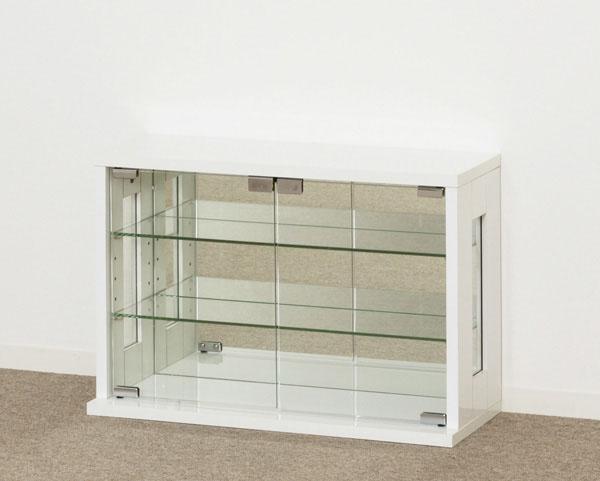 【ポイント5倍 お買い物マラソン期間】 卓上コレクションケース 横型(ホワイト) KU664 送料無料