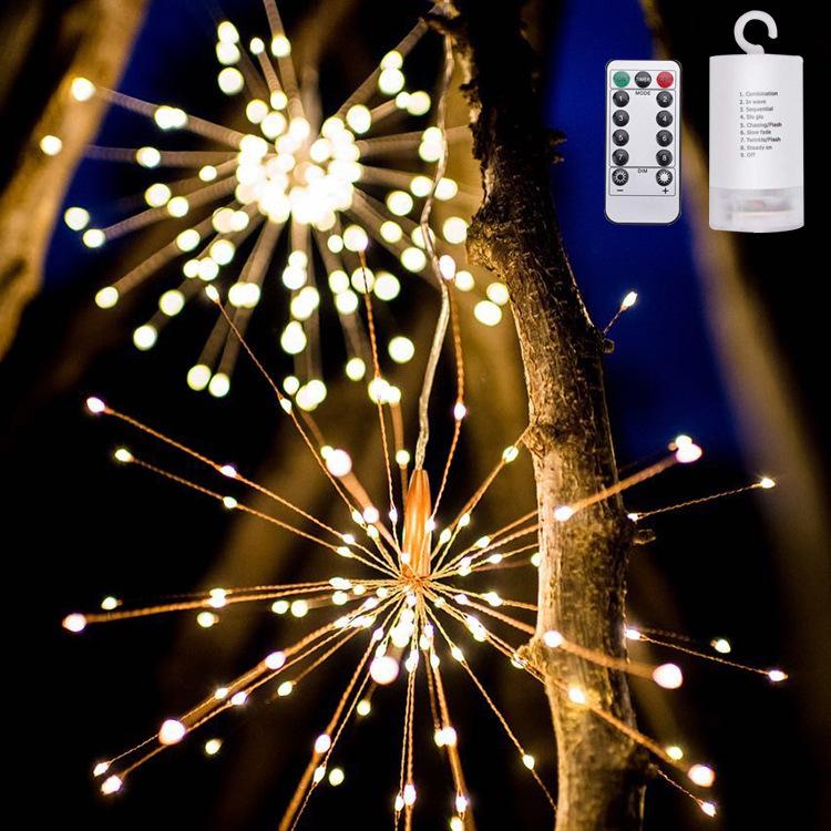 花火LEDライトは キラキラと光る花火のような照明効果を提供してくれ 雰囲気も暖かくになります LEDライト イルミネーションライト 花火 リモコン 電池 ベッドサイドランプ 120電球 室内 室外 屋内屋外 飾り お庭 結婚式 パーティー おすすめ特集 バレンタインデー クリスマス 卓越 nlife_d19 装飾 ガーデン 送料無料