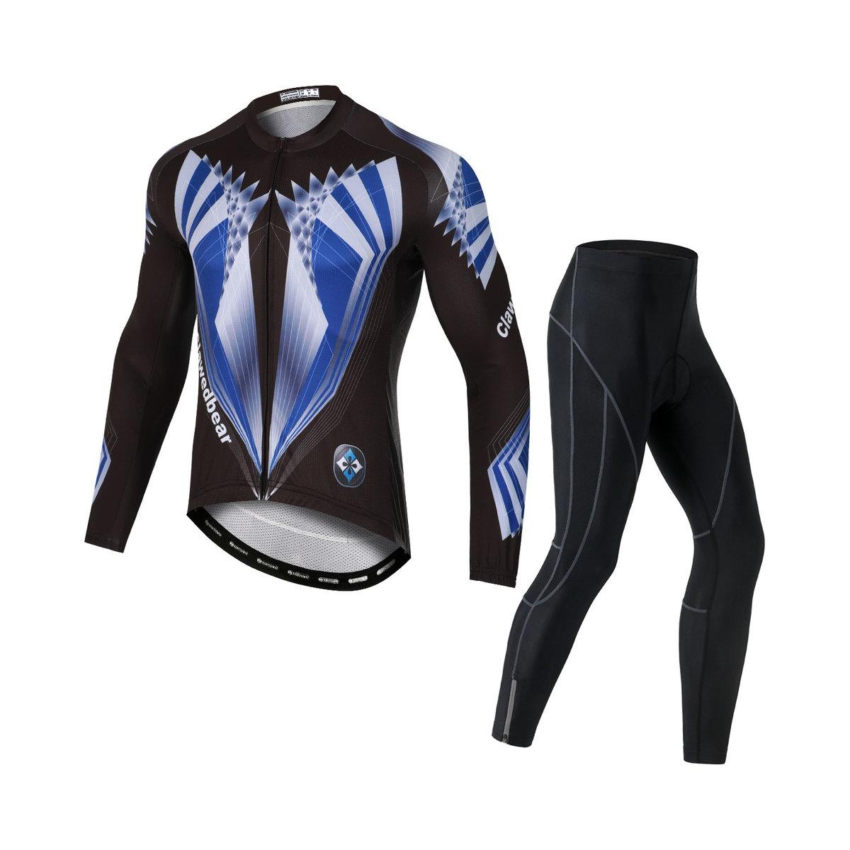 サイクルジャージ 信託 サイクルウェア 国産品 メンズ 薄手長袖 上下セット サイクルパンツ 速乾 男性用 自転車 ゲルパット 吸汗