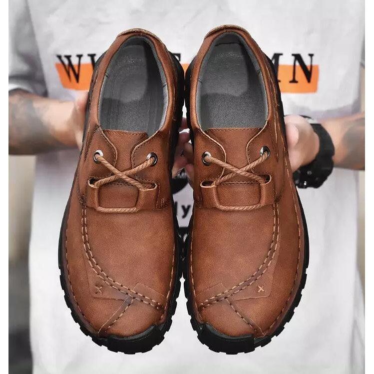 メンズ カジュアルシューズ デッキシューズ 革靴 手作り オックスフォードの靴 賜物 防滑 ワークブーツ ファッションスニーカー 通勤用 正規品送料無料