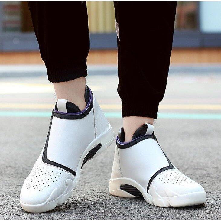 スニーカー メンズ 白 送料込 バスケットシューズ 通学靴 オンラインショッピング 日常着用 ハイカット 雨の日も適用 疲れにくい 履きやすい