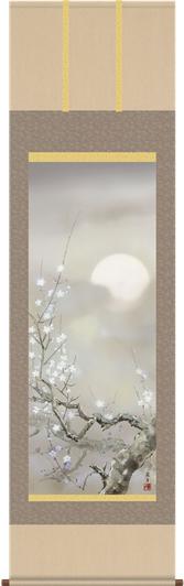 掛け軸-宵桜/吉井 蘭月(尺五・床の間に春用掛軸花鳥画掛軸をどうぞ) [送料無料]