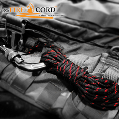 Live Fire Gear 550 Fire Cord ブラック1000ft