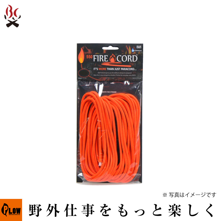 Live Fire Gear 550 Fire Cord セーフティーオレンジ1000ft