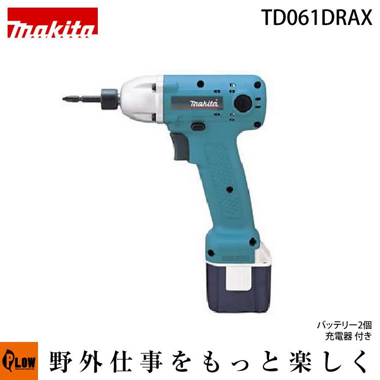 マキタ 充電式インパクトドライバ TD061DRAX 9.6V バッテリー×2・充電器・ケース付
