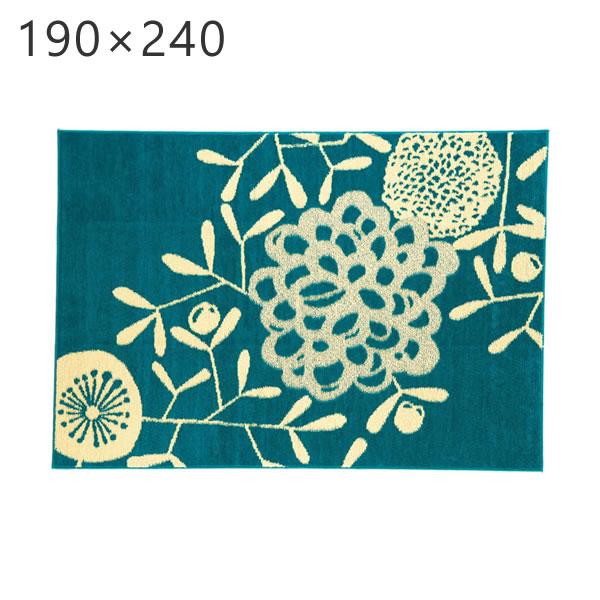 ハナカザリ ラグ HANAKAZARI RUG 190×240cm デザインライフ DESIGN LIFE スミノエ