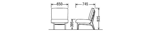 カリモク 肘無椅子 CD5905