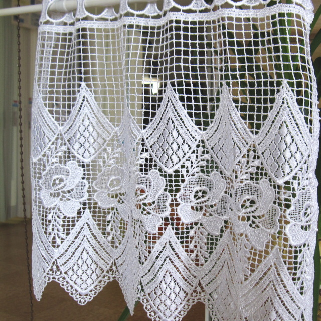 Macrame Lace Cafe Curtains Window 41 Cm Length Will Produce A