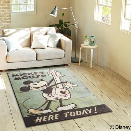 ディズニー ラグマット 100×140cmプレミアムコレクションミッキー/ミュージックラグ【Disney HOME SERIES】【Disneyzone】