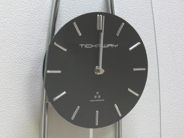 壁掛け時計/ウォールクロック 振り子 電波 おしゃれ スタンダード電波振り子時計