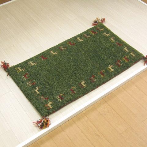 玄関マット 室内 手織りマット 60×90 インディアンギャベマット