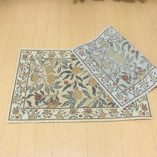 玄関マット 室内 67×120 ゴブラン織り ブランド ウィリアム・モリス 『フルーツ』