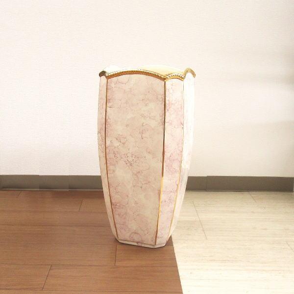 傘立て(かさたて) 陶器 ポルトガル マーブルゴールド[アンブレラスタンド アンブレラホルダー レインラック 傘入れ 傘スタンド]
