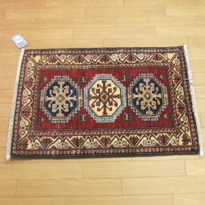 玄関マット 室内 手織り 58×84cm パキスタン カザック
