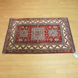 玄関マット 室内 手織りマットパキスタン手織マット カザック 86×124cm【あす楽対応】