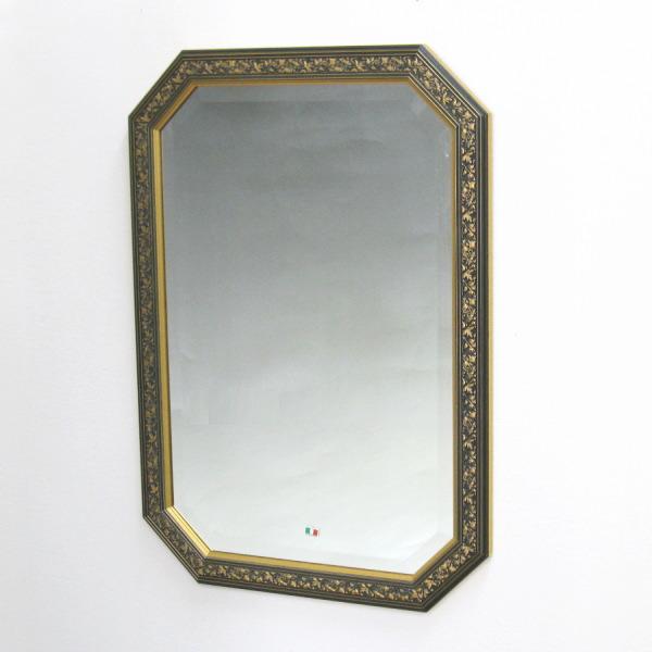 鏡 壁掛け イタリア製 八角ミラー808408 壁掛け鏡(壁掛けミラー/ウォールミラー)