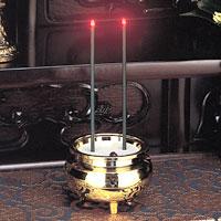 LEDお線香 火を使わないLEDの燭台付電子お線香 倒れても安心のお線香 電子式の線香 安心のお線香 ミニ【電池式仏具】【ゴールド(金)】【安心】【線香】【安全】【電池式】【仏壇 仏具】【LED線香】
