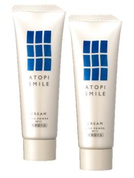 アトピスマイルクリーム50g 2個セット 乾燥肌 敏感肌 皮膚水分保持能改善効果 赤ちゃん 高齢者 ハンドクリーム 送料無料