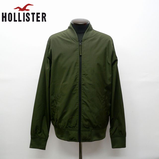 【あす楽対応】HOLLISTERPOLI JACKETMA-1 ホリスターMA-1タイプバックプリントジャケット ブルゾン332-328-0925-330正規店購入品