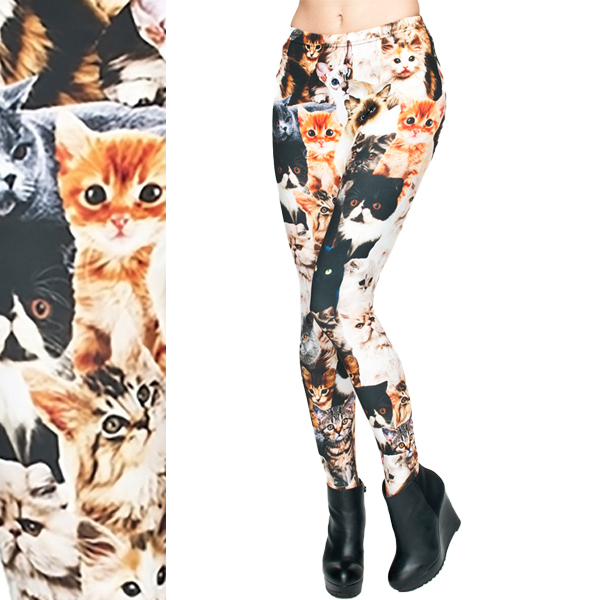 受注生産品 ネコがすごいレギンス メール便可 メイルオーダー 猫だらけ CATS 総柄 キャッツ レギンス ねこ 猫 NEW にゃんこ ワンサイズ 伸縮性 抜群 スパッツ オールオーバープリント Cat