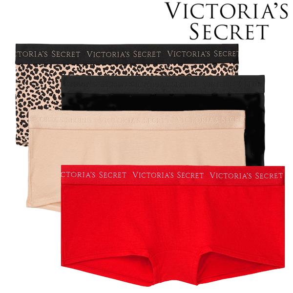 メール便可 Victoria's Secret ヴィクトリアシークレット マート 定番スタイル ビクトリアシークレット ビクシー ヴィクトリアズシークレット ストレッチ ロゴ ボーイショーツ ヒップハンガー インナー L 下着 レディース パンツ S M 女性
