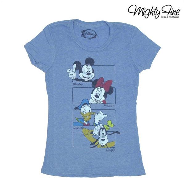 Tシャツ レディース 半袖 キャラクター ゆったりめ 残りわずかセール■メール便可 Mighty Fine マイティーファイン Disney Tシャツヘザーブルー Peek-a-Boo 現品限り 出荷 再入荷なし ミニー 人気の製品 ミッキー ドナルド SALE ディズニー グーフィー