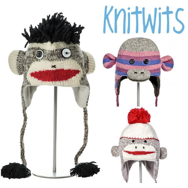 KNITWITS Delux nitwits cute Sock Monkey Beanie   knit Cap Sock Monkey knit  hat cc792b4568e