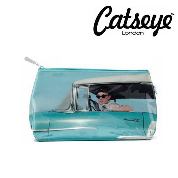人気ショップが最安値挑戦 セール Catseye キャッツアイ 70%OFFアウトレット ブルーカー ガール メイクアップポーチ カバンの中に入れるポーチとしてちょうどよい大きさです 化粧品入れ メーク 旅行 ジムに 温泉 水濡れOK SALE