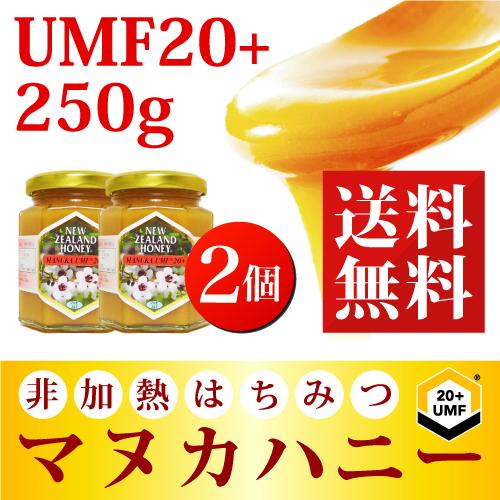 マヌカハニー UMF 20+ 250g (MGO 829以上)【2個セット】 非加熱 の 100%純粋 生マヌカ はちみつ ハチミツ 蜂蜜