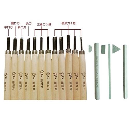 めちゃめちゃ売れてます☆全国送料無料 彫刻刀 12本 専用 国際ブランド 砥石 3本 今だけスーパーセール限定 趣味用としても使えます セット 図工 美術 工作