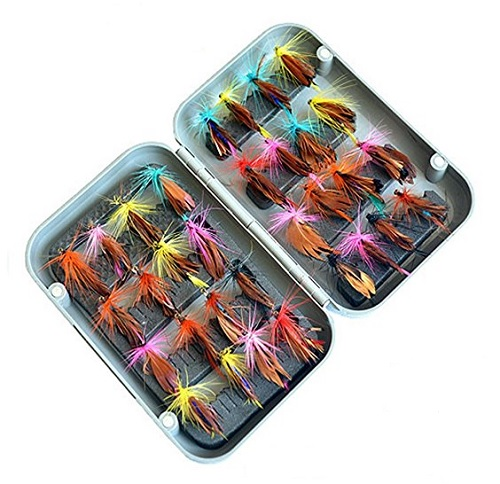 渓流釣りの定番 めちゃめちゃ売れてます 全国送料無料 直営ストア フライフィッシング用 毛ばり フライ 倉庫 ケース入り32本セット