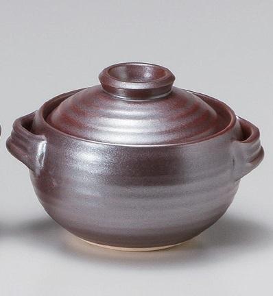 鉄砂 ごはん鍋 炊飯 土鍋 1合 一合用【万古焼】