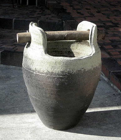【送料無料】 信楽焼 かさ立て 傘立て カサ立て/窯変手桶