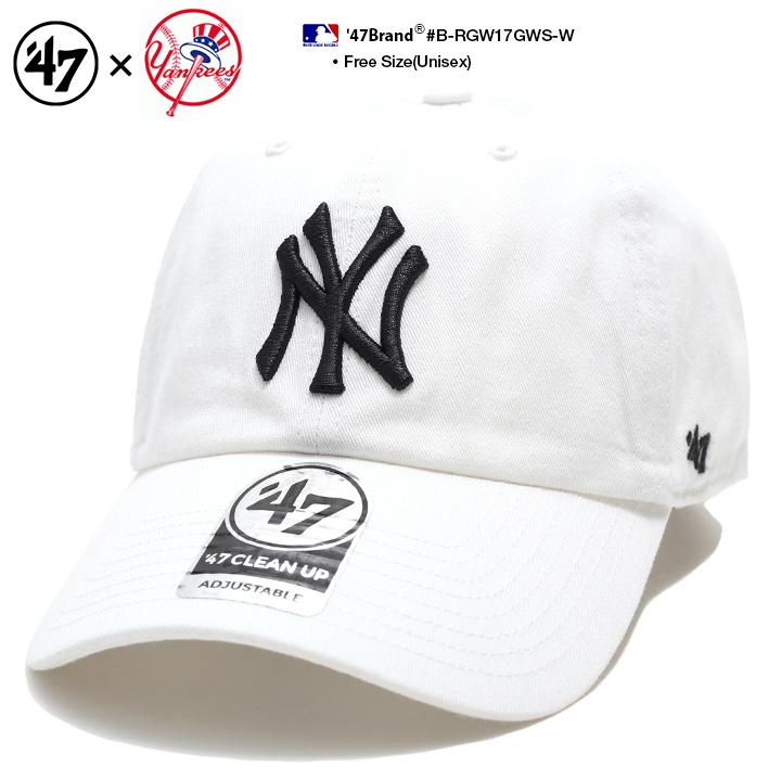 Fサイズ 再入荷 ランキング1位獲得 47 キャップ 47brand ニューヨーク ヤンキース 帽子 ローキャップ メンズ レディース ランキングTOP10 春夏秋冬用 白 MLB かっこいい ヒップホップ 希少 フォーティセブン アメカジ b系 ロゴ NY cap ゴルフ ファッション B-RGW17GWS-W ブランド ストリート系 おしゃれ