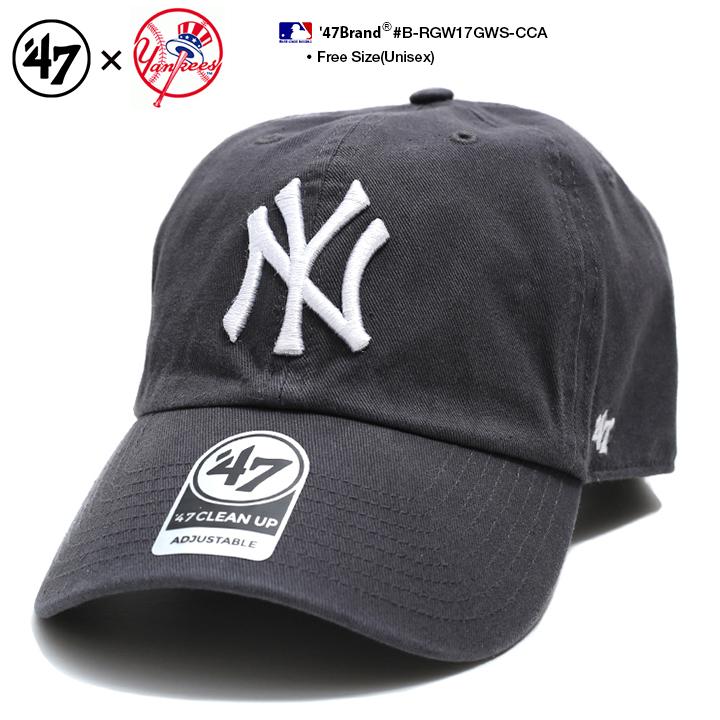 Fサイズ ランキング1位獲得 47 キャップ 47brand ニューヨーク ヤンキース 帽子 出色 ローキャップ メンズ レディース 春夏秋冬用 チャコール MLB ブランド おしゃれ 送料無料新品 ゴルフ ファッション b系 フォーティセブン かっこいい ストリート系 B-RGW17GWS-CCA ヒップホップ cap NY アメカジ ロゴ