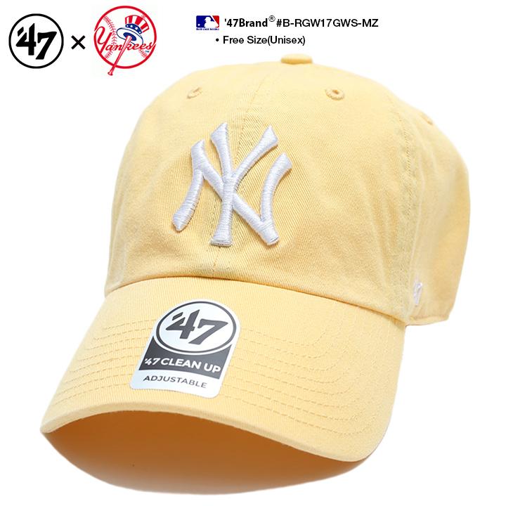 Fサイズ ランキング1位獲得 47 キャップ 新入荷 流行 47brand ニューヨーク ヤンキース 帽子 ローキャップ 蔵 メンズ レディース 春夏秋冬用 黄色 MLB B-RGW17GWS-MZ cap b系 ブランド ロゴ NY ヒップホップ フォーティセブン ストリート系 ファッション アメカジ かっこいい ゴルフ おしゃれ