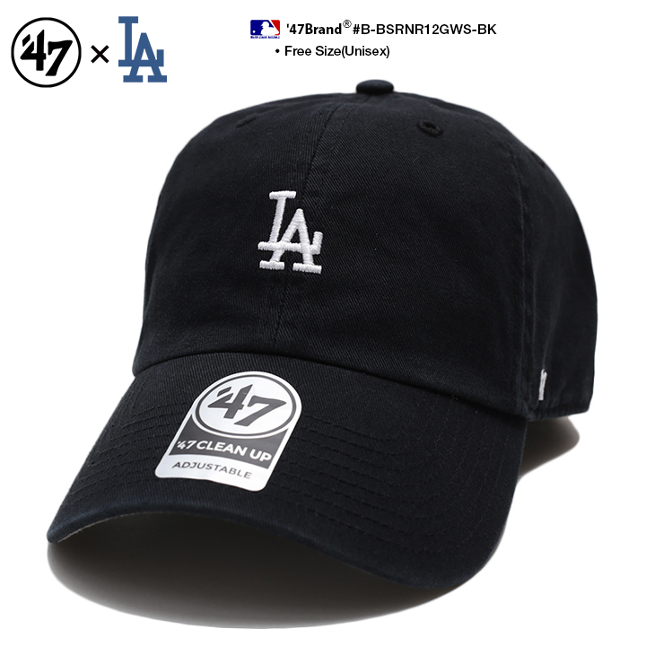 Fサイズ ランキング1位獲得 47 キャップ ドジャース ローキャップ メンズ レディース 春夏秋冬用 黒 MLB Dodgers LA ロゴ 47brand かっこいい cap おしゃれ 価格 B-BSRNR12GWS-BK お買得 浅め フォーティセブン ベースボールキャップ ストリート系 ファッション ブランド ヒップホップ 帽子 b系 アメカジ