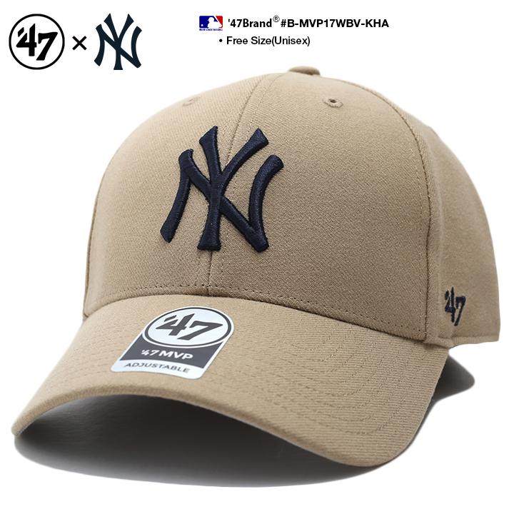 ランキング1位獲得 47 キャップ 47brand 当店は最高な サービスを提供します ニューヨーク ヤンキース 帽子 ローキャップ メンズ レディース 春夏秋冬用 カーキ MLB NY ゴルフ ブランド b系 浅め ヒップホップ ファッション フォーティセブン ストリート系 ロゴ 新登場 おしゃれ かっこいい MVP B-MVP17WBV-KHA アメカジ
