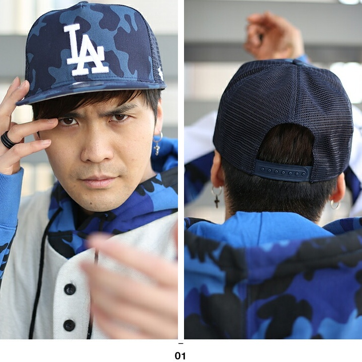 46fe84e5 Fashion men gap Dis cap forty seven brand 47BRAND Los Angeles Dodgers hat  CAP MLB Major League baseball LA embroidery USA model dark blue camouflage  ...